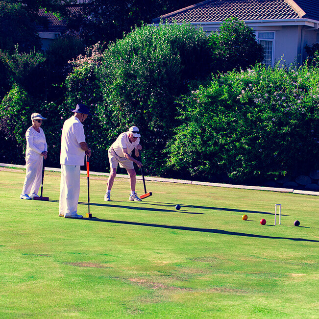 <p>Helderberg Village Croquet club</p> - 1